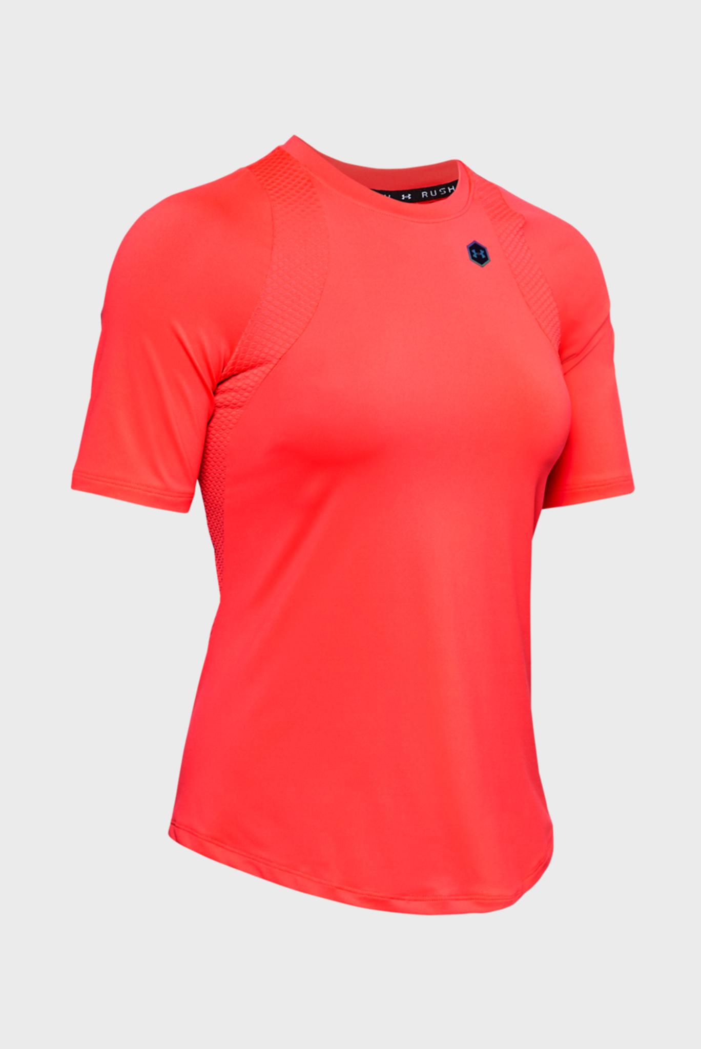 Женская красная спортивная футболка UA Rush SS Under Armour