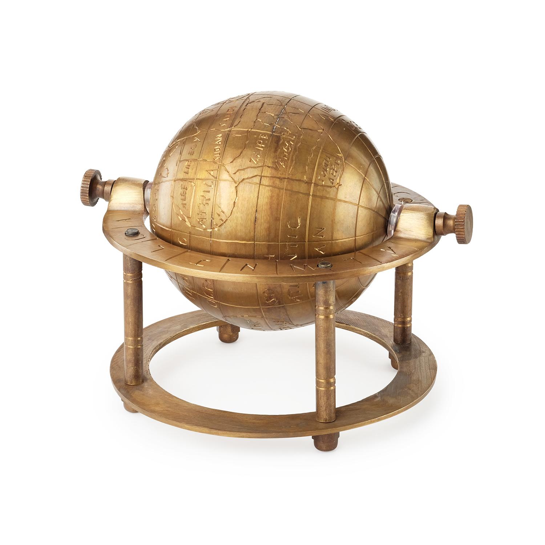 Глобус настольный из латуни