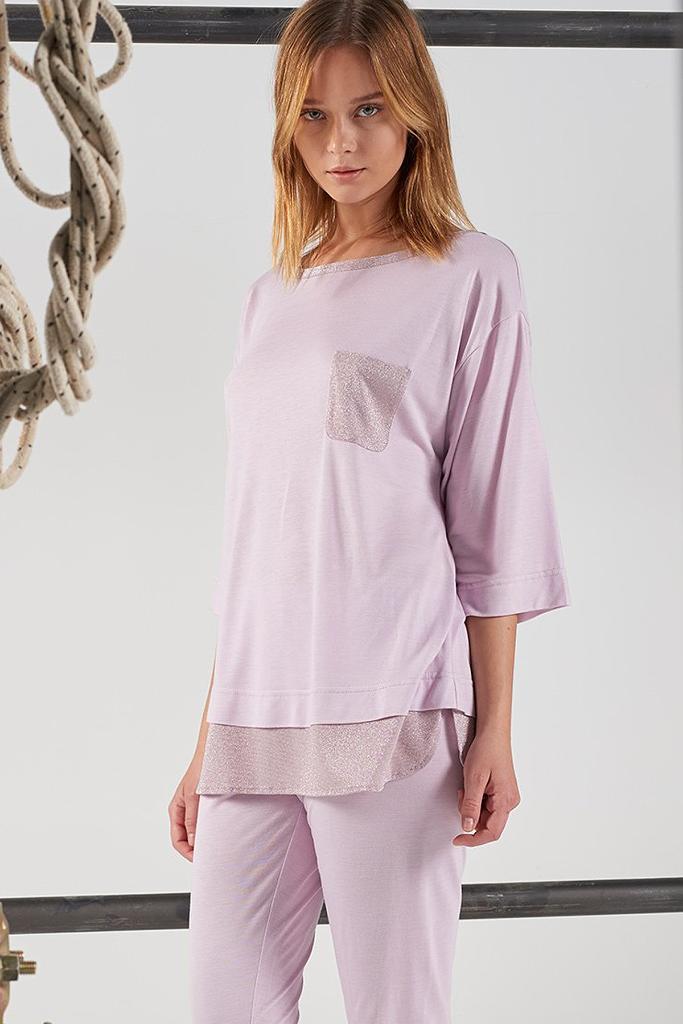 Пижама с люрексом Rebecca & Bros