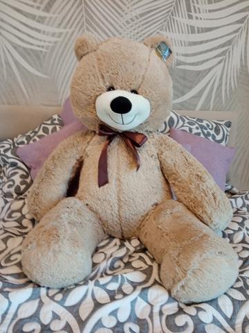 Плюшевый медведь Нестор Бежевый 120 см