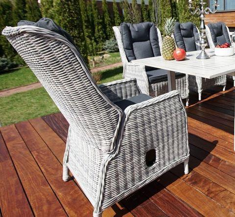 Регулируемое кресло «Верона» из искусственного ротанга, цвет коричневый