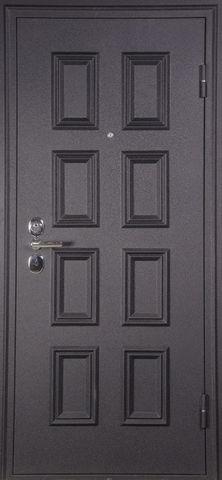 Дверь входная A-4 M стальная, чёрный шёлк, 2 замка, фабрика Арсенал
