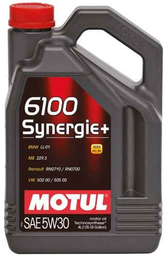 Motul 6100 Synergie+ 5W30 Полусинтетическое моторное масло