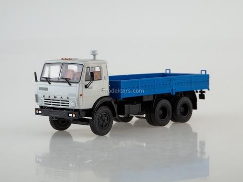 KAMAZ-5320 flatbed truck gray-blue 1:43 PAO KAMAZ