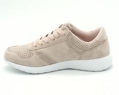 Розовые кроссовки из искусственной замши