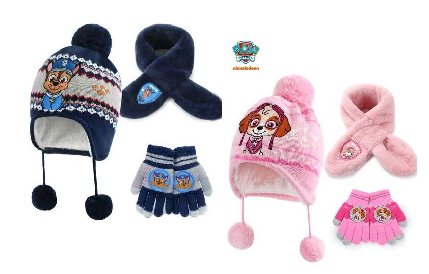 Щенки комплект шапка шарф и перчатки