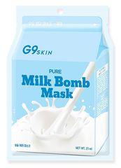 G9 Маска для лица тканевая G9SKIN MILK BOMB MASK-Pure 21мл (10702070/250819/0169064)