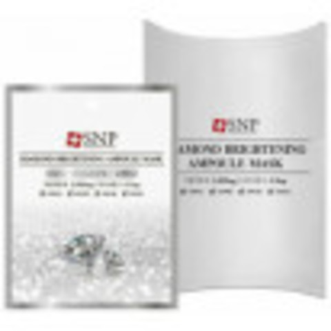 SNP Тканевые маски с алмазной пудрой SNP Diamond Brightening Ampoul Mask 10шт