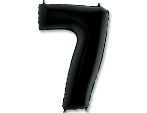 Цифра, 7, Черный (Black), 40''/102 см, 1 шт.
