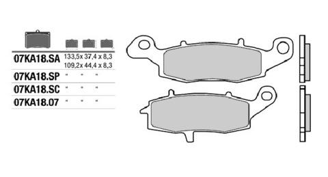 Тормозные колодки Brembo 07KA18SA (FDB2049)