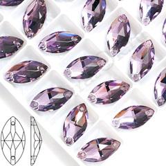 Купите стразы пришивные Navette Light Violet, Лодочка светло-фиолетовые оптом