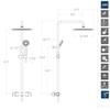 Душевая система с термостатом и тропическим душем для ванны BLAUTHERM 944802RPK225 - фото №3