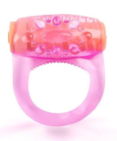 Розовое кольцо с вибропулей для усиления эрекции