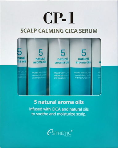 Cыворотка для кожи головы УСПОКАИВАЮЩАЯ CP-1 Scalp Calming Cica Serum, 5 шт * 20 мл ESTHETIC HOUSE