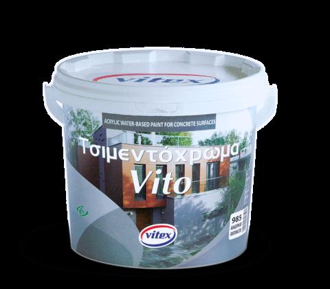 Акриловая цементная краска на водной основе для наружного применения-Vito