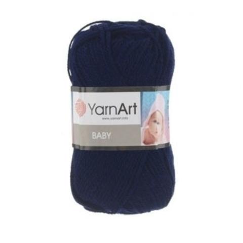 Пряжа YARNART BABY № 583 темно синий