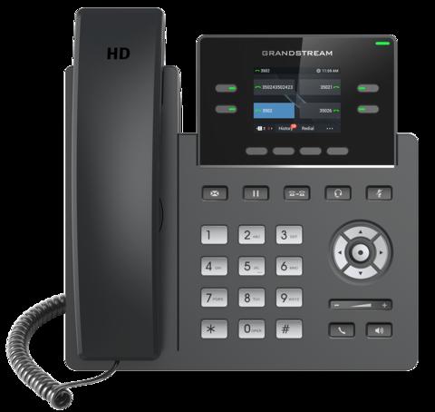 Grandstream GRP2612 (без PoE) - IP телефон. 2 SIP аккаунта, 4 линии, цветной LCD, 16 virtualBLF
