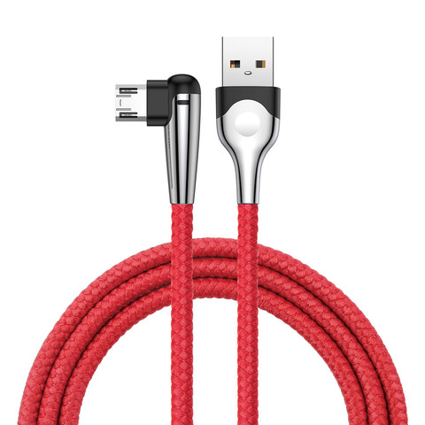 Кабель Baseus sharp-bird mobile game cable USB For Micro 2.4A 1M Red