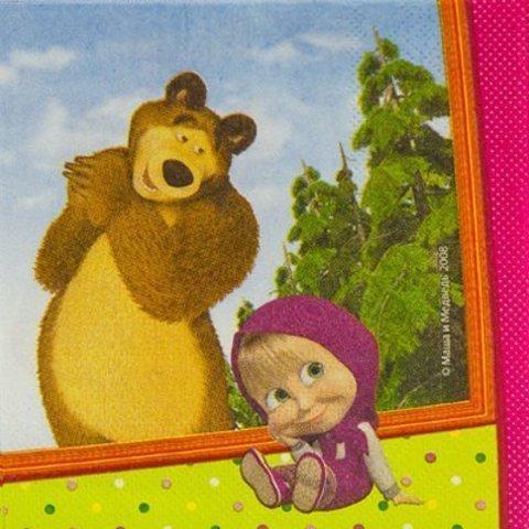 Салфетка Маша и Медведь 33см 12шт/G