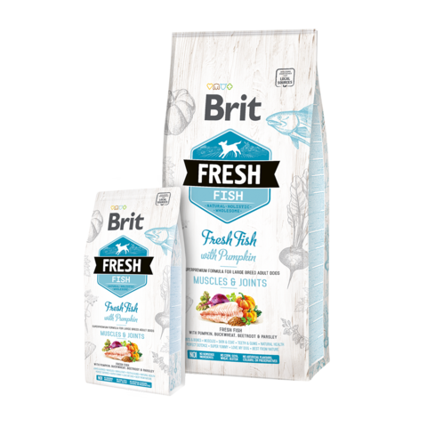 Brit Fresh Fish & Pumpkin Adult Large Сухой корм для собак крупных пород Рыба и тыква