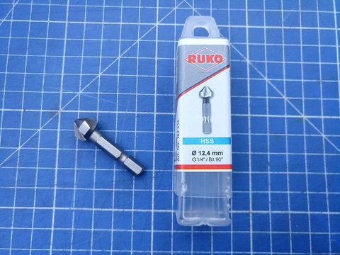 Зенковка-бита 90° 12,4мм 3z L35мм HSS-G Ruko 102316