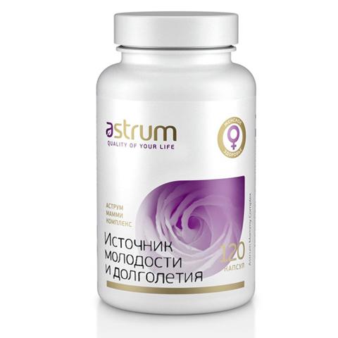 Astrum БАДы: Биодобавка Аструм Мамми Комплекс (Источник молодости и долголетия), 120капсул