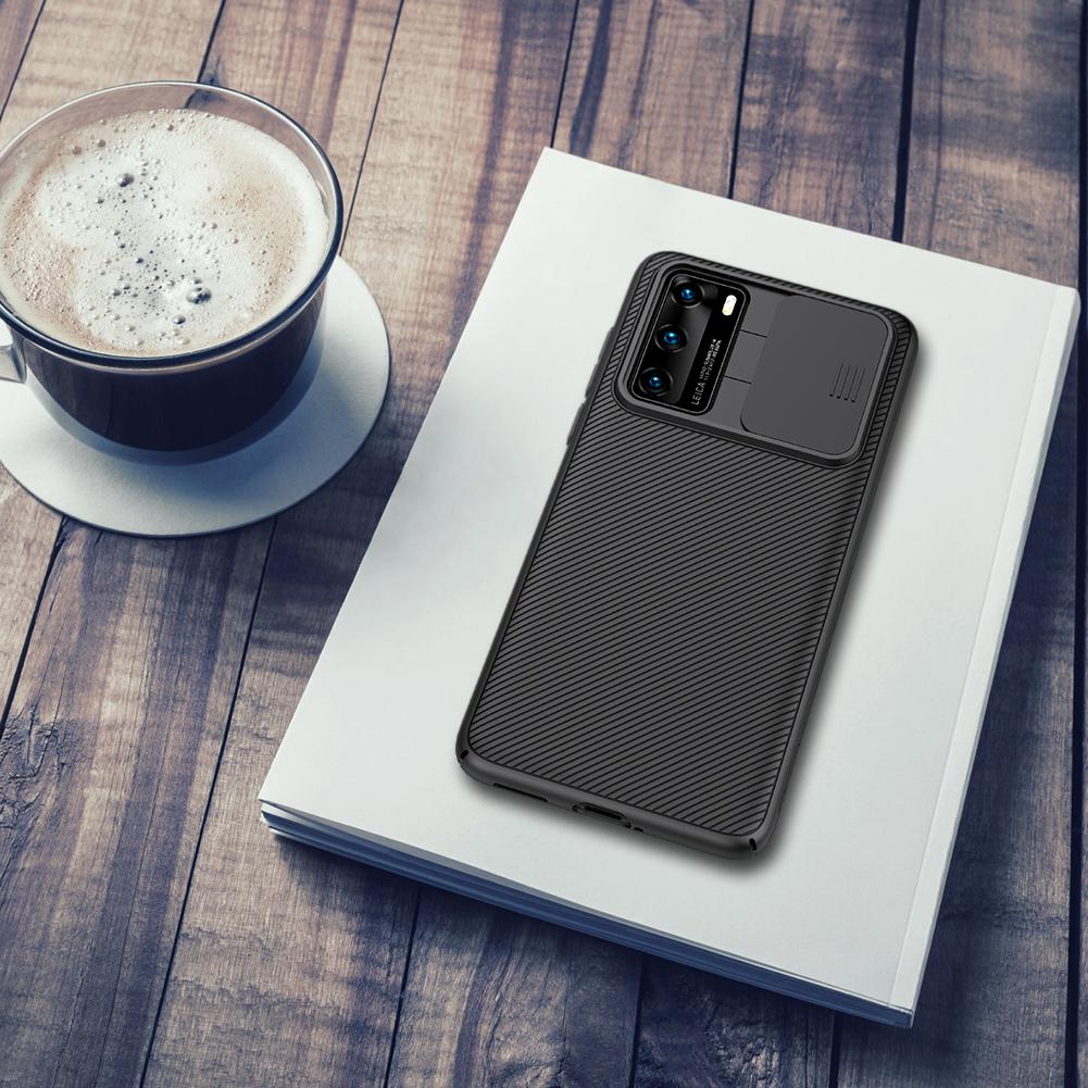 Чехол от Nillkin серии CamShield Case для Huawei P40 с защитной шторкой для задней камеры