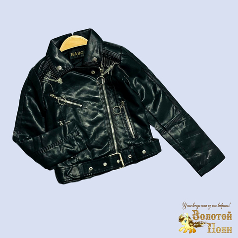 Куртка эко-кожа девочке (5-10) 210130-К2060