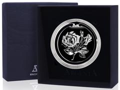 Серебряная закладка для книг «Цветок» с лазерным логотипом