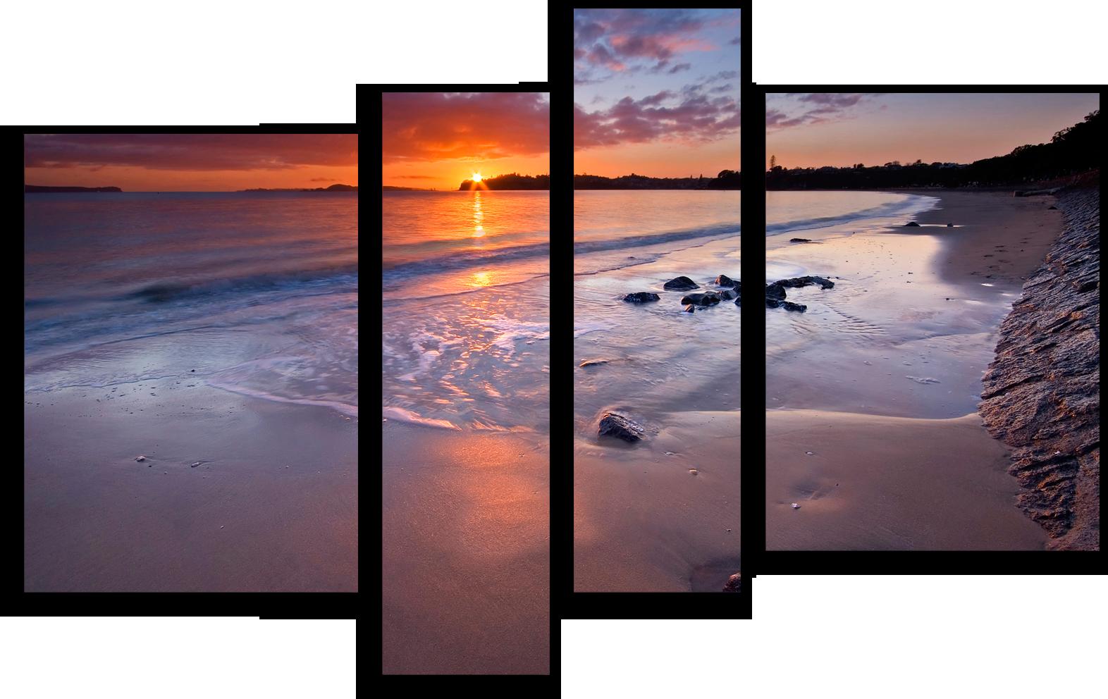 """Модульные картины Модульная картина """"Пляжный закат"""" М33.png"""