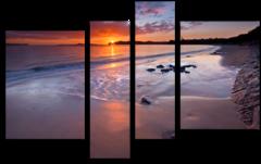 "Модульная картина ""Пляжный закат"""