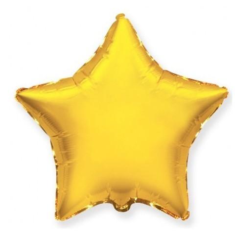 Звезда из фольги золотая (46 см)