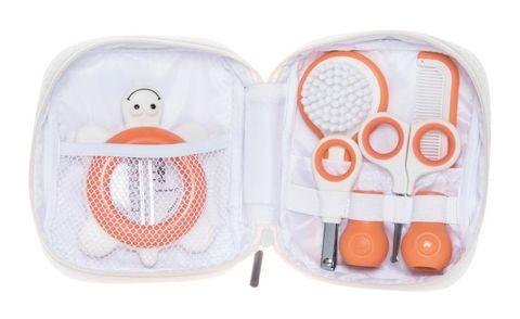 Bebe confort. Набор аксессуаров по уходу за малышом в футляре (5 предметов), белый/коралловый