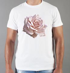 Футболка с принтом Цветы (Розы) белая 0024