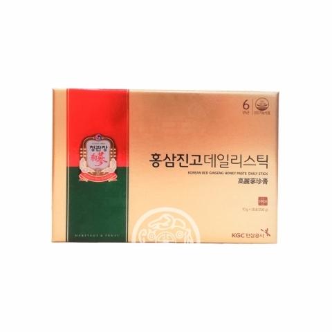 Напиток безалкогольный сироп из корня красного женьшеня с медом 20 пак*10гр Ginseng Корея