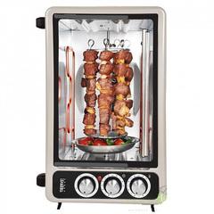 Мини печь | Духовка электрическая 2в1 40л DELTA D-025А с функцией приготовления шашлыка серая