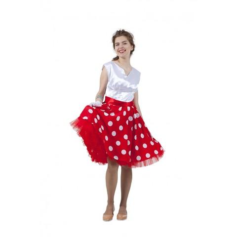 Платье в стиле 50-х с юбкой в горох