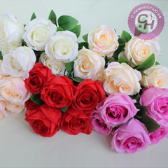 Розы искусственные крупные