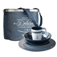 TABLEWARE PACK 6 PEOPLE SAILOR SOUL