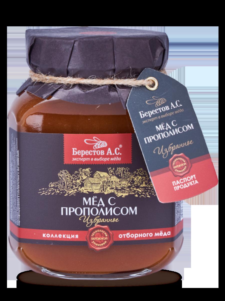 Мед Избранное С прополисом/ стекло 500 г Мёд