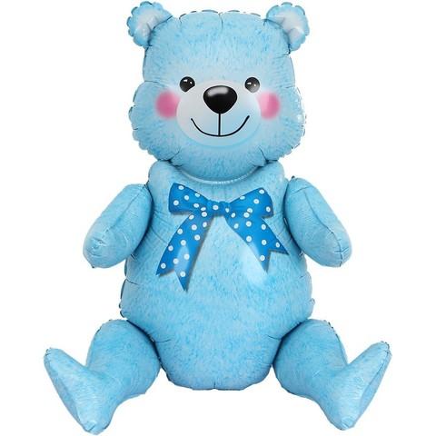 Ходячая фигура, Мишка, голубой, 81см.