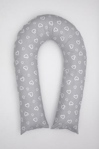 Наволочка на подушку U360 10749 сердечки серый