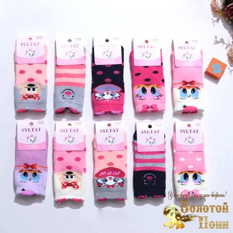 Носки махровые девочке (0-12) 211003-R3846