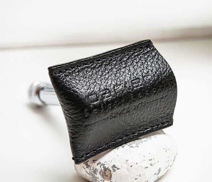 RAZ498-1 Кожаный защитный чехол крышка для Т образного станка «PARKER» (черный) фото 02