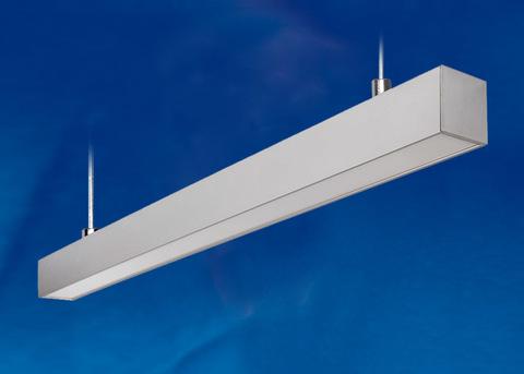 ULO-K10D 30W/5000K/L60 IP65 SILVER Светильник линейный светодиодный подвесной. Белый свет (5000К). 2800Лм. Алюминий. Цвет серебро. TM Uniel