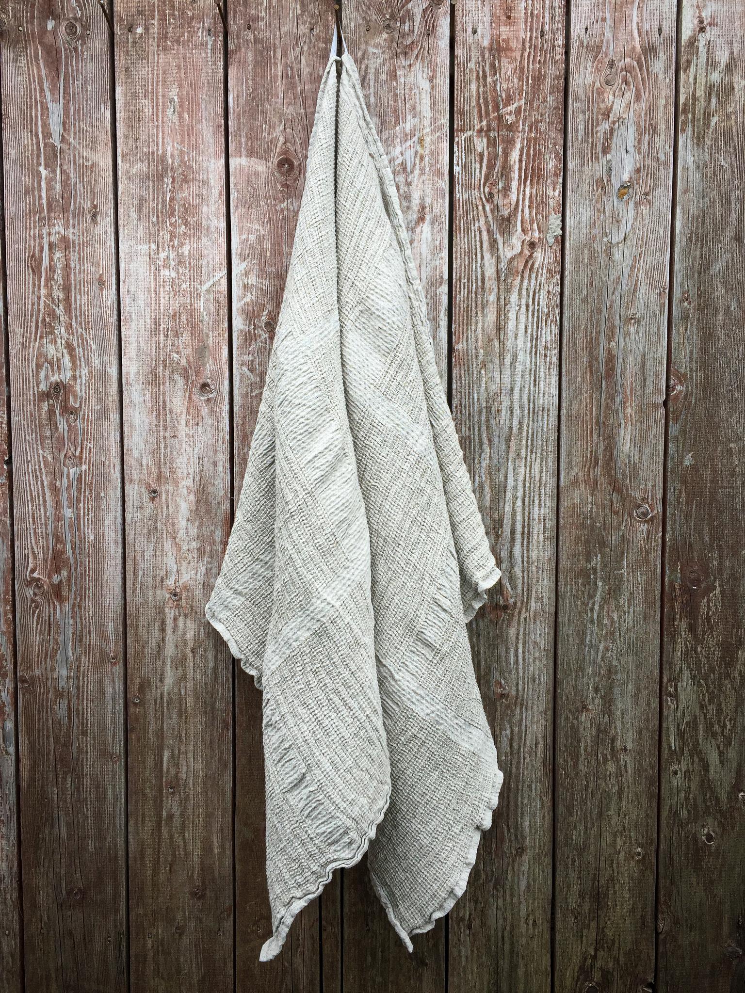 Банное льняное эко полотенце