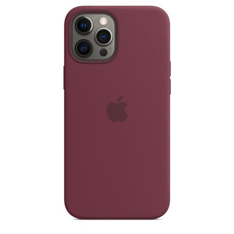 Apple Silicone Case на iPhone 12 Pro Max (Сливовый)