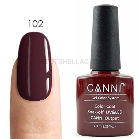 Canni Canni, Гель-лак № 102, 7,3 мл 102.jpg