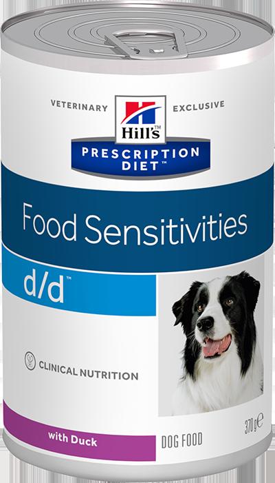 Влажные корма Ветеринарный корм для собак Hill`s Prescription Diet d/d, при пищевых аллергиях, с уткой дд_ут.png
