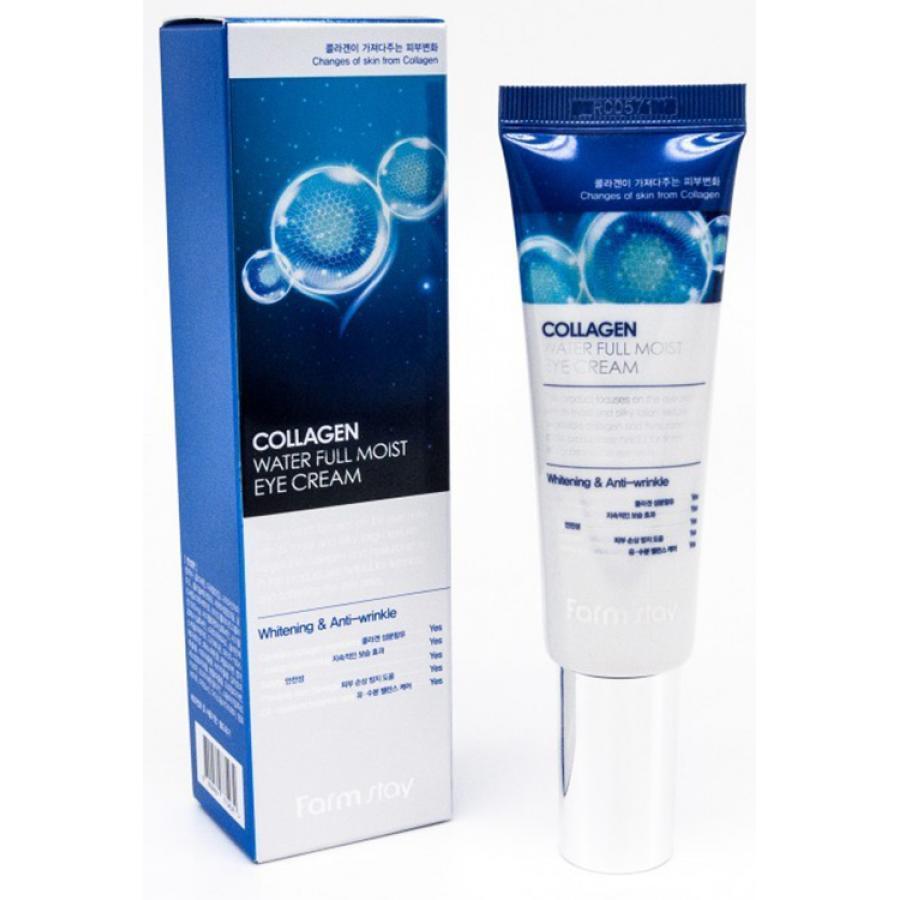 Крем увлажняющий с коллагеном для зоны вокруг глаз FARMSTAY Collagen Water Full Moist Eye Cream, 50